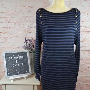 Marc by Marc Jacobs Navy Blue Striped Dress C4
